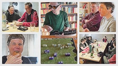 Collage: Spielen im Februar